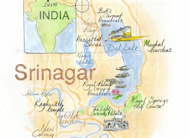 Kashmir Map / Conde Nast Traveller Magazine