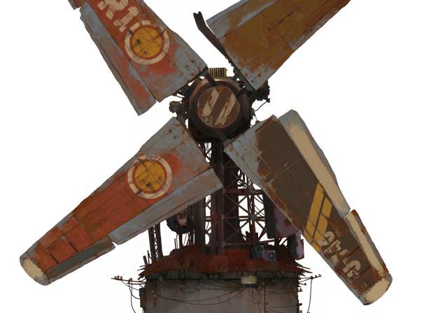 Sci-Fi Windmill