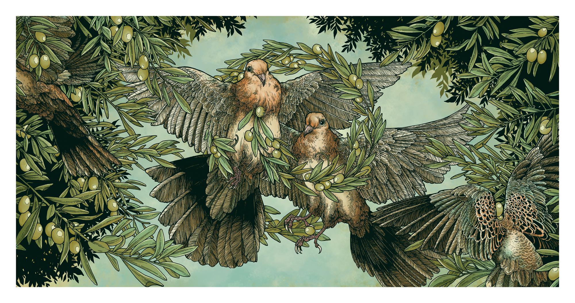 Nefesh Mountain - Beneath the Open Sky - Album Art - Inside Spread - Erica Williams - Art Print - Saturnalia.jpg