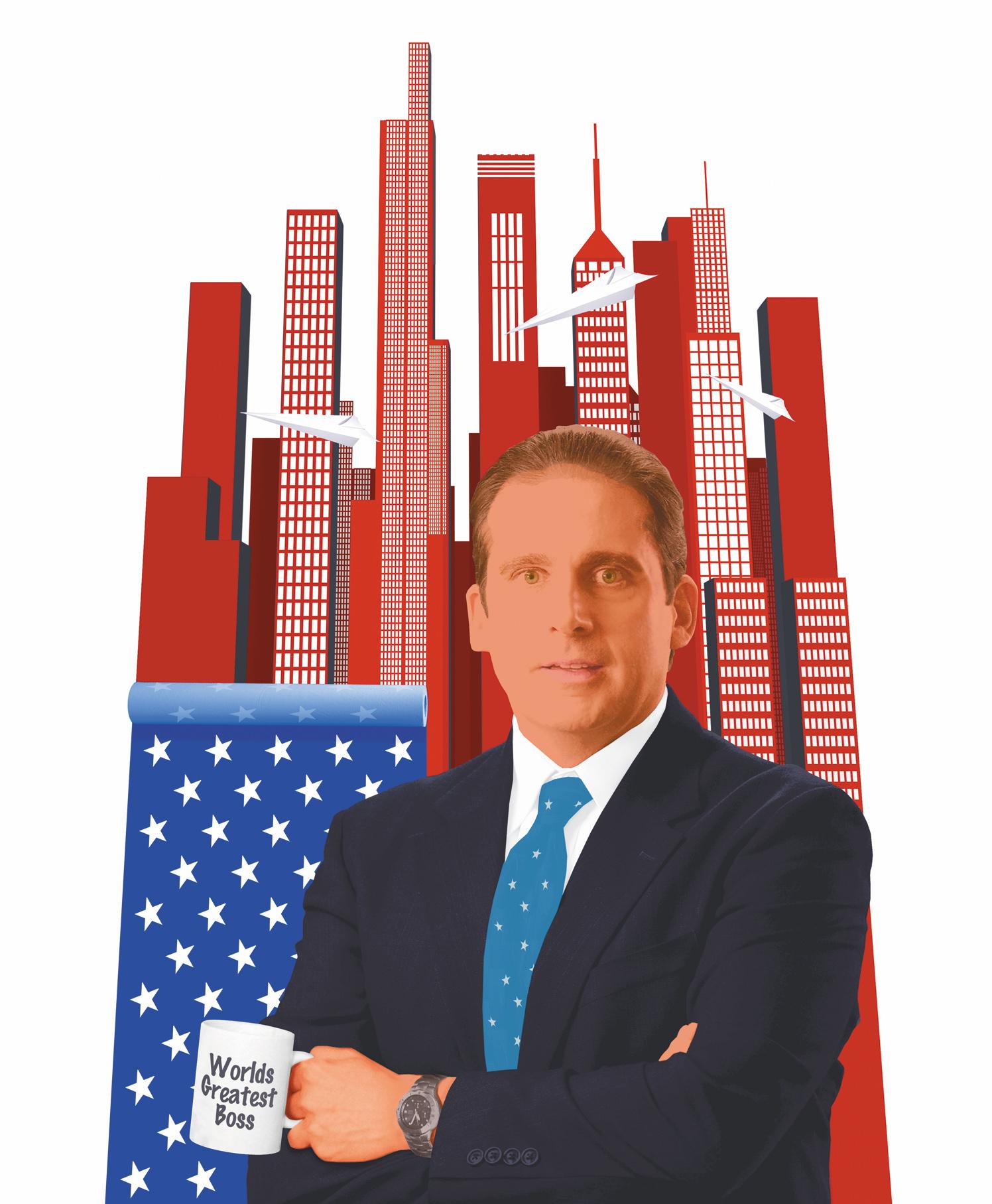 Worlds Best Boss The Office David John Angel Debut Art