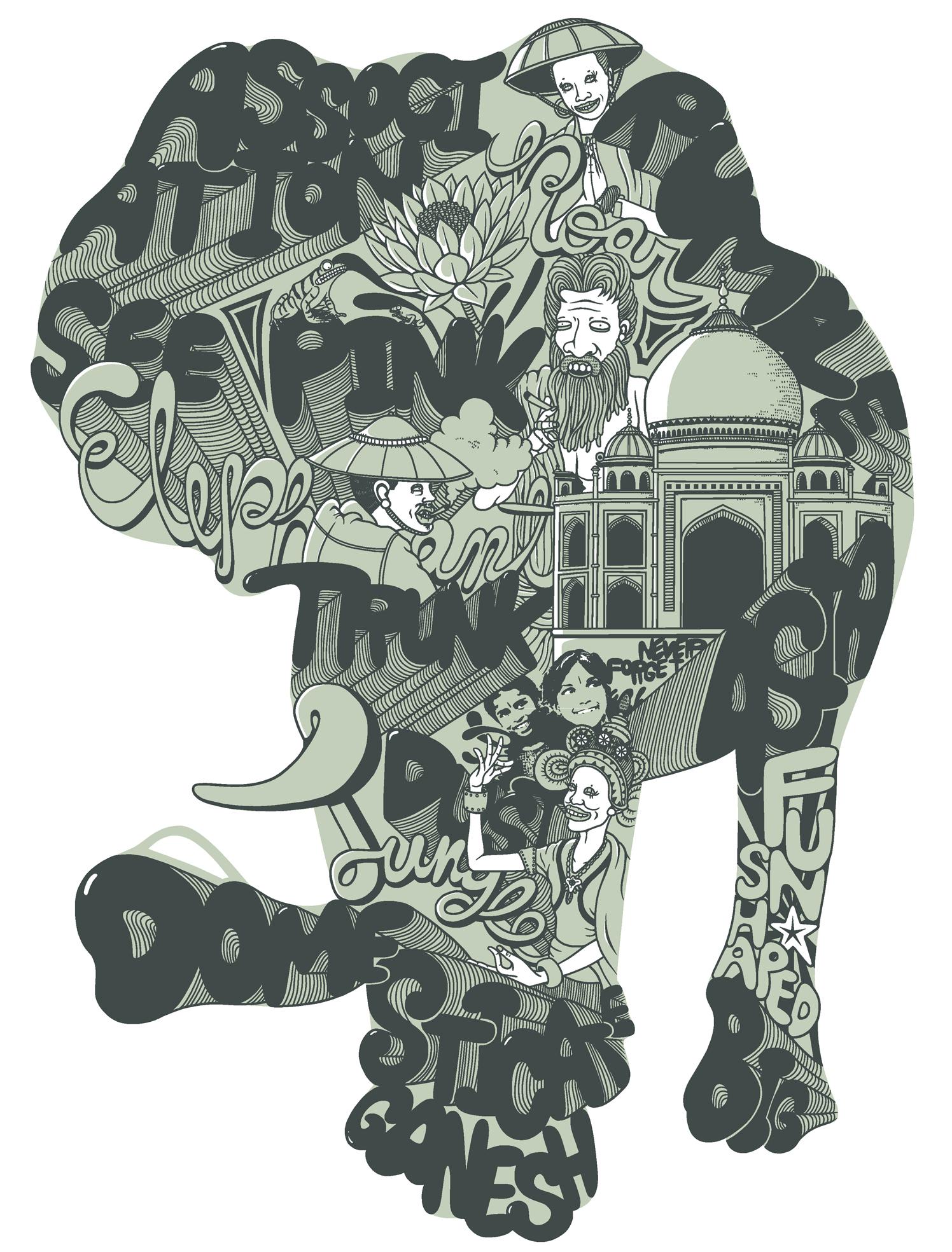Animal Print Elephant