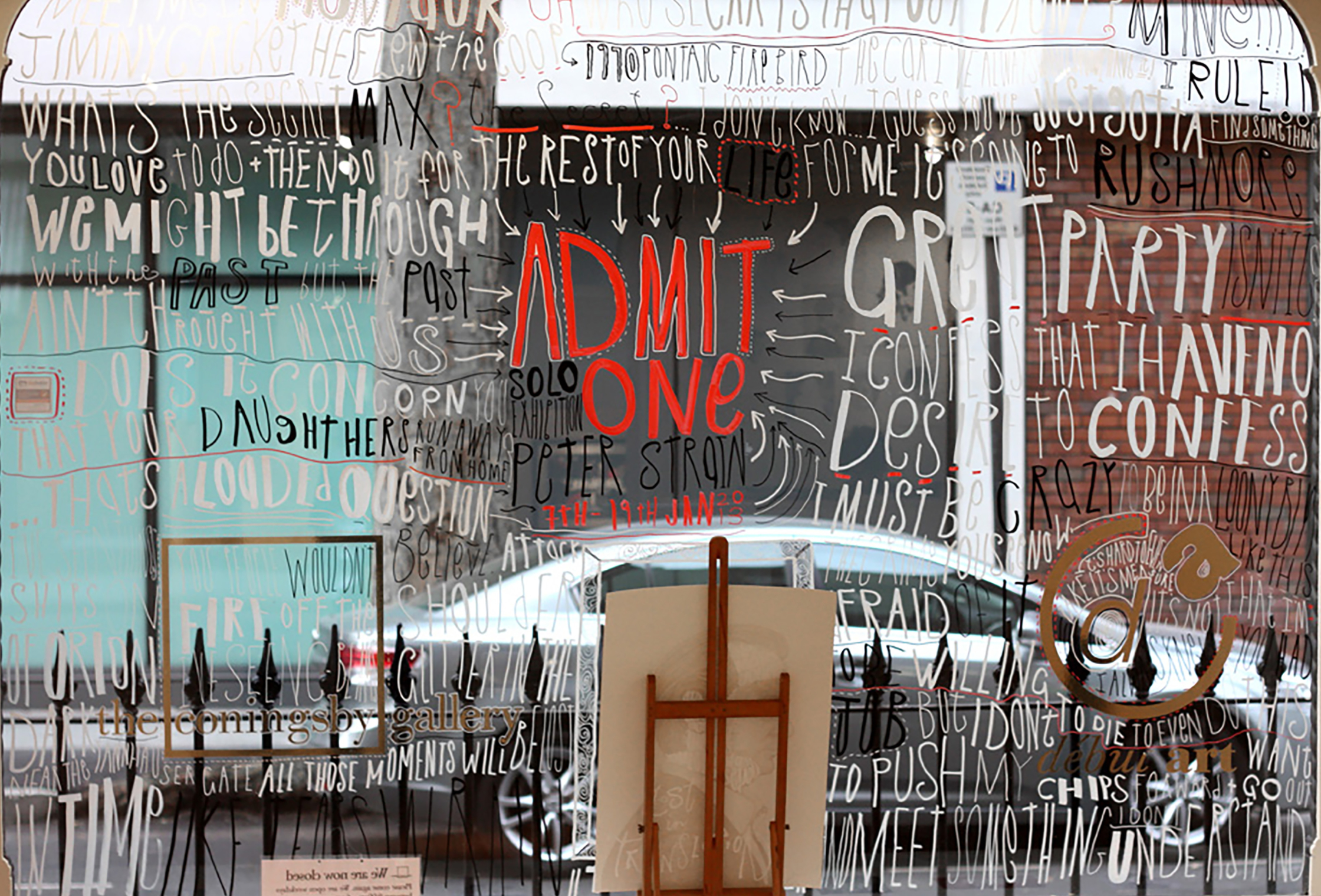 Admit One Exhibition Window