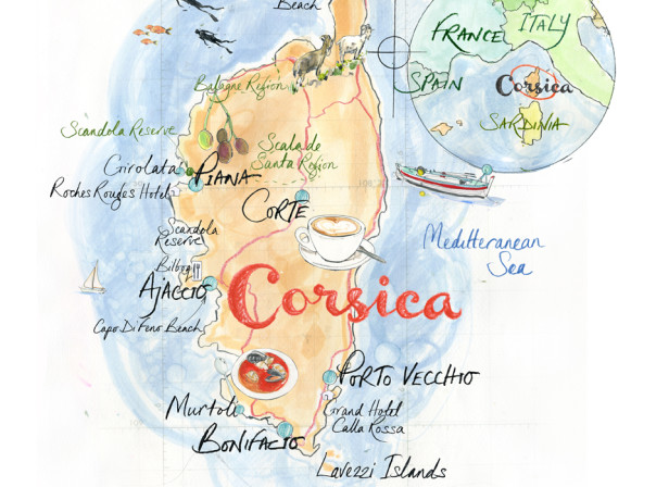 Corsica Map / Times Traveller