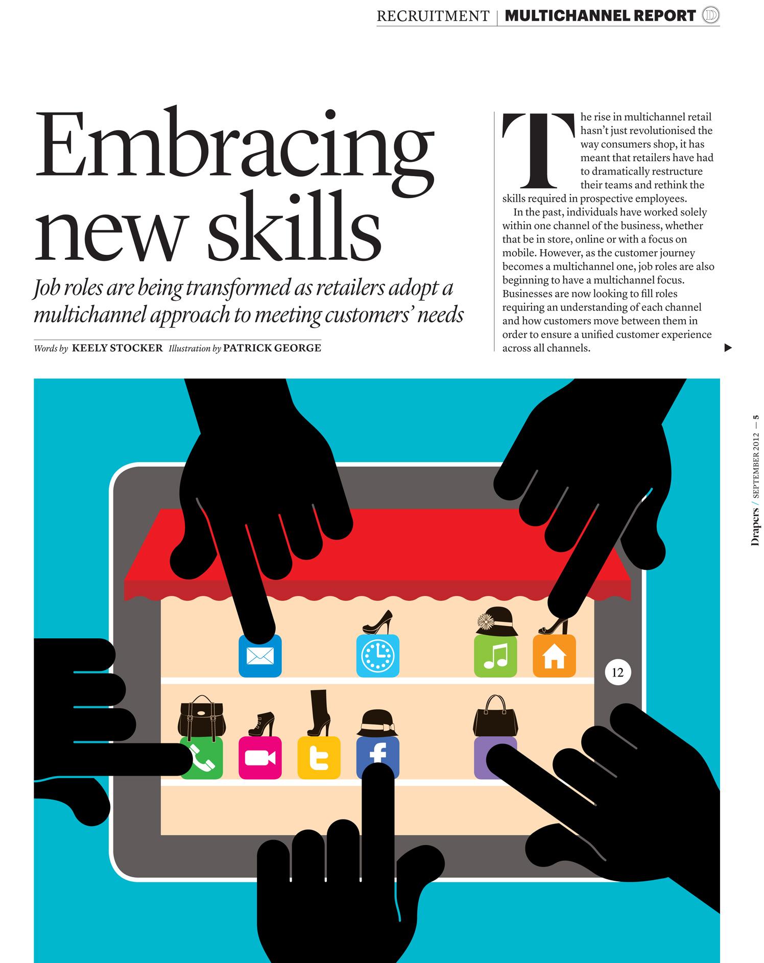 Embracing New Skills / Drapers Magazine