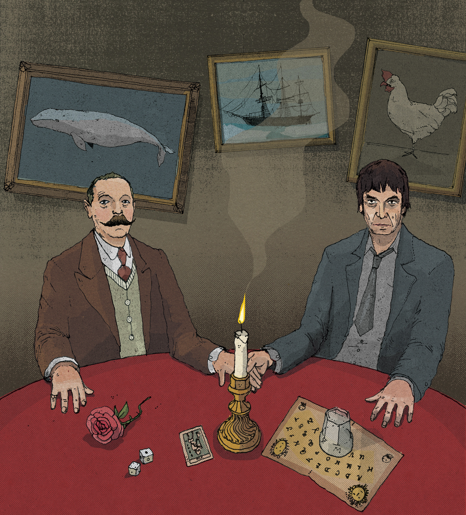 Conan Doyle and Ian Rankin / The Telegraph