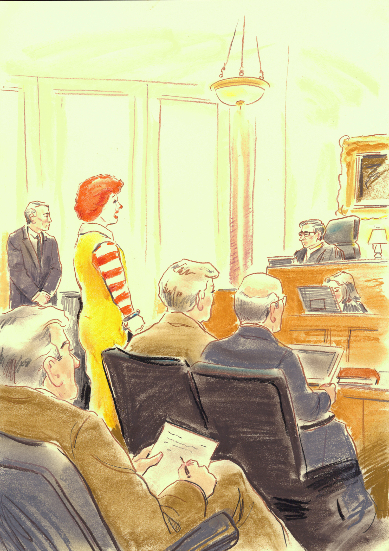 Ronald McDonald On Trial / Men's Health Magazine