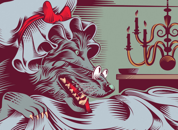 Little Red Riding Hood and The Wolf / Grimm's Tales