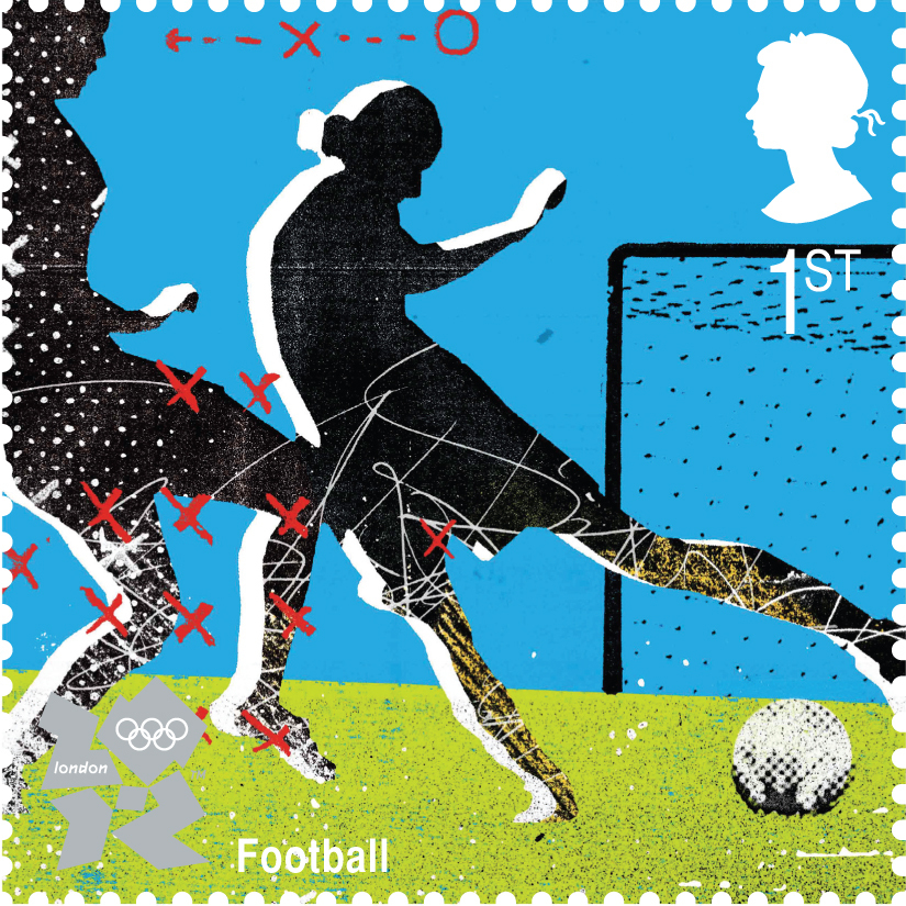 Olympics Ladies Football Stamp