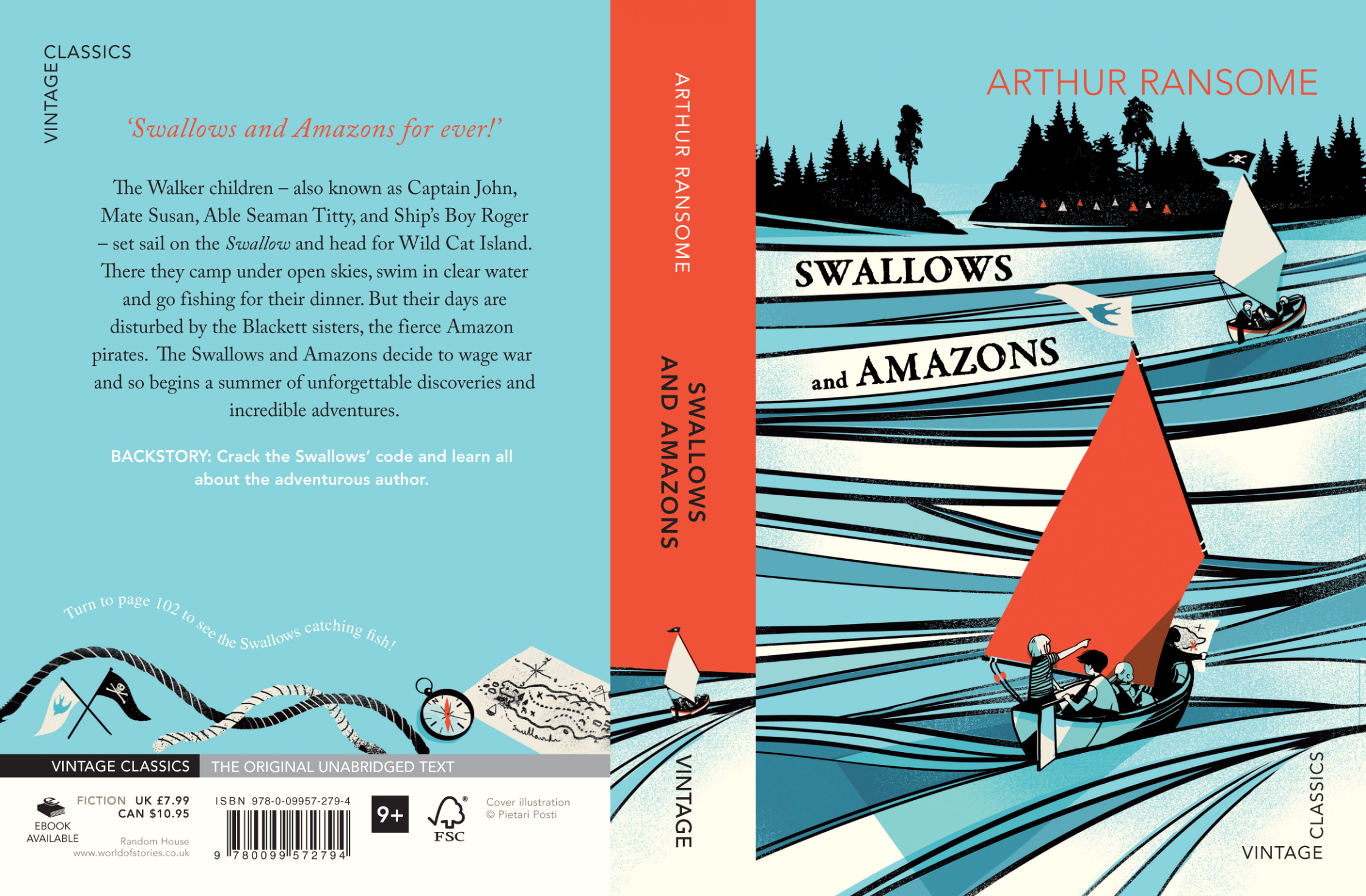 Arthur Ransome - Swallows And Amazons Cover