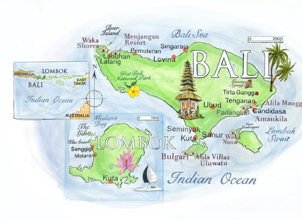 Bali Map / Conde Nast Traveller Magazine