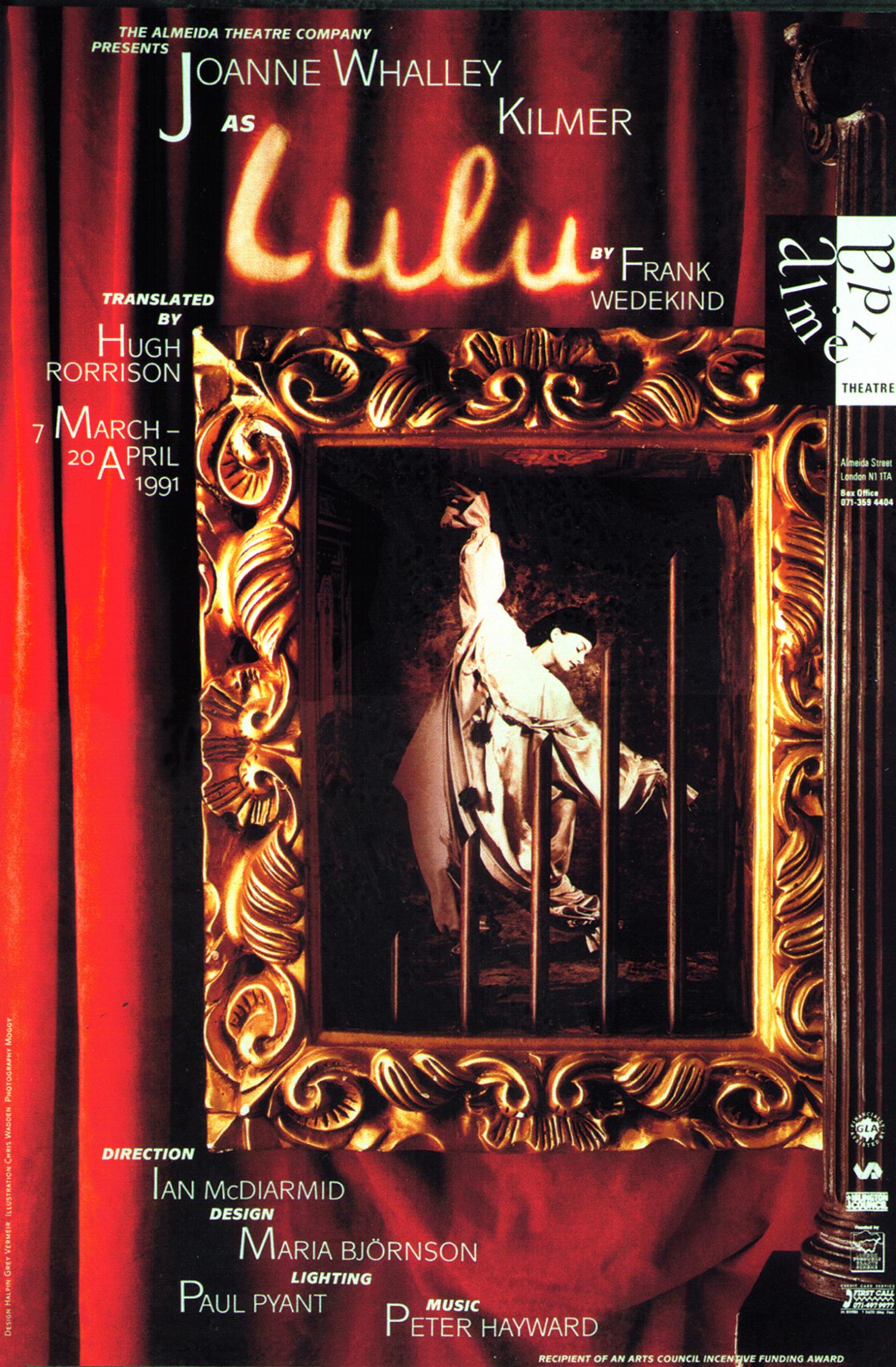 Lulu Poster / Almeida Theatre