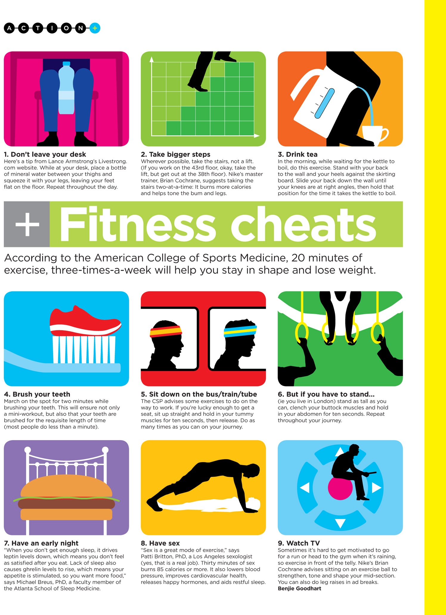 Fitness Cheats / GQ Magazine