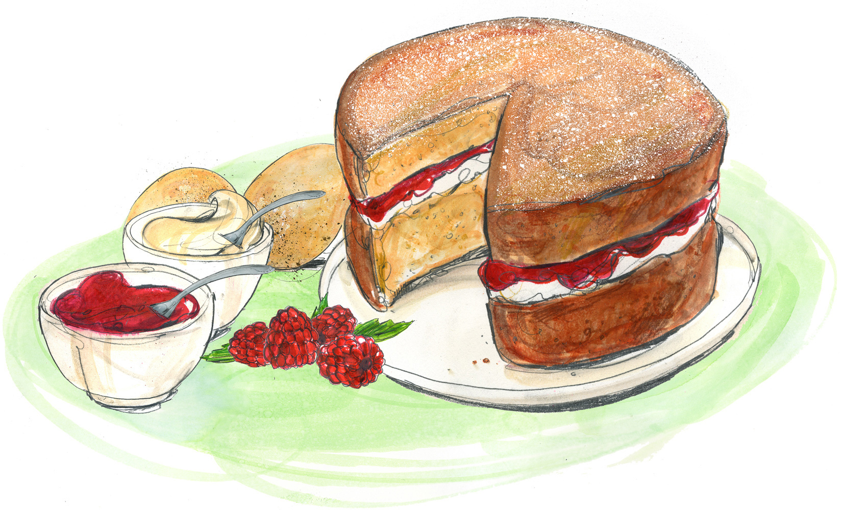 Victoria Sponge Raspberry Jam Xanthe Clay Recipe The Telegraph