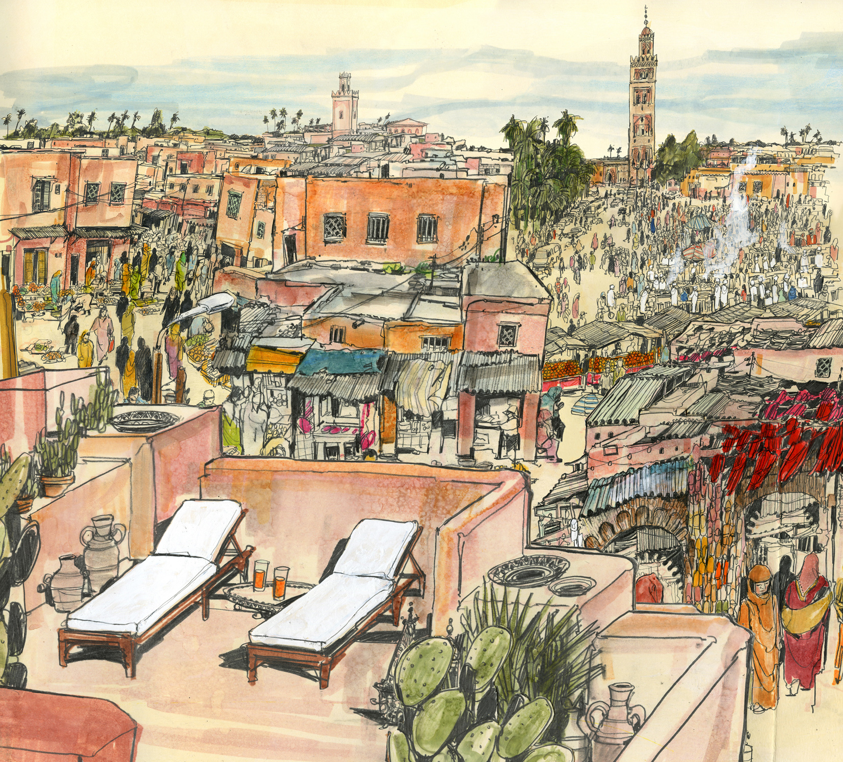 Marrakech Rooftop View The Times Travel