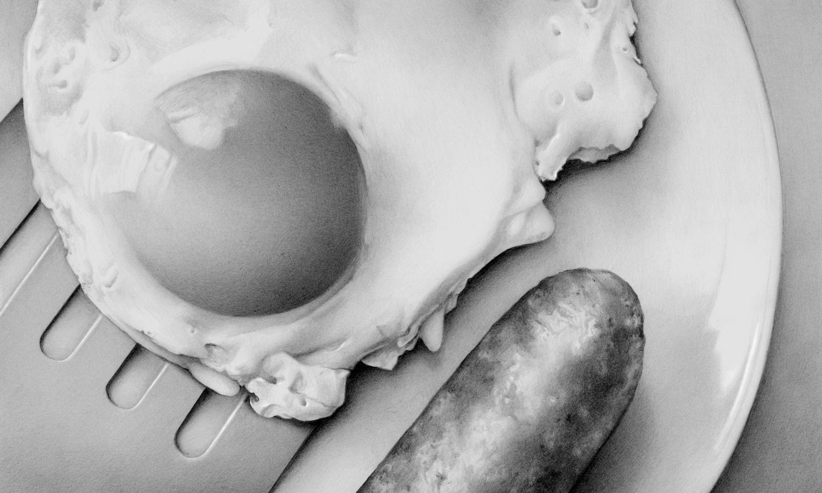 Food Fried Egg And Sausage