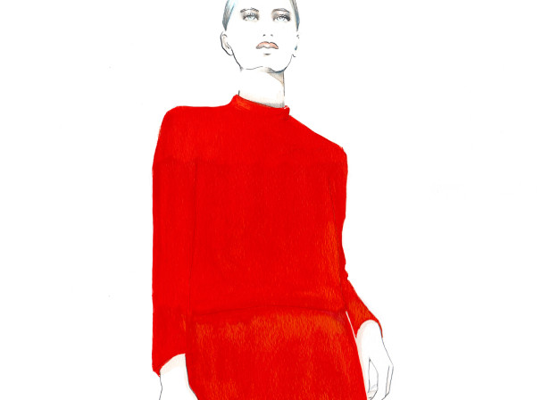 Ralph Lauren Live Drawing Red