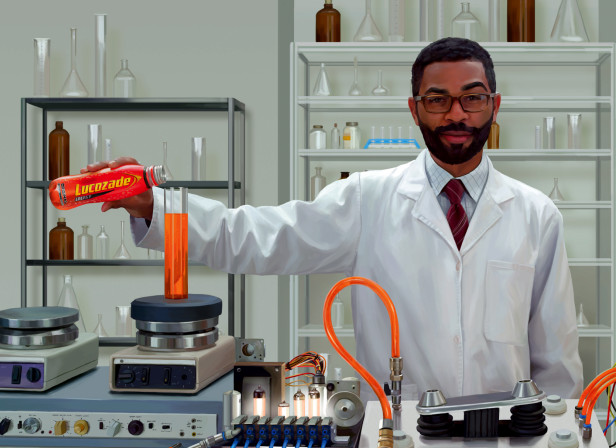Lucozade Scientist