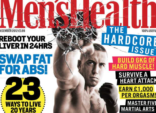 The Hardcore Issue / Men's Health Magazine Cover