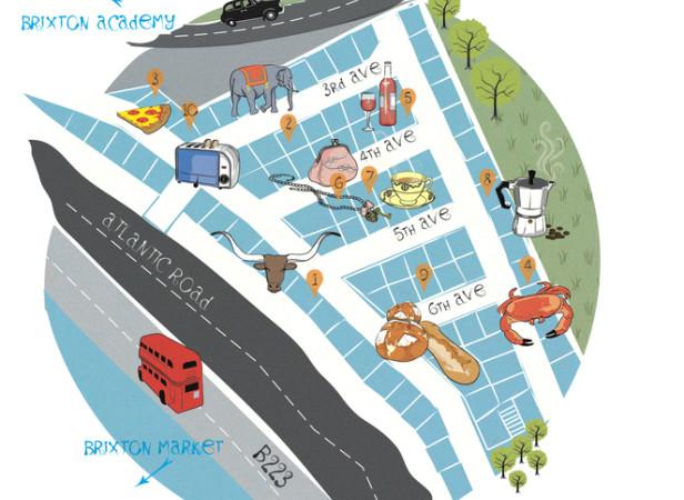 Metropolitan Map Brixton / Radius Magazine
