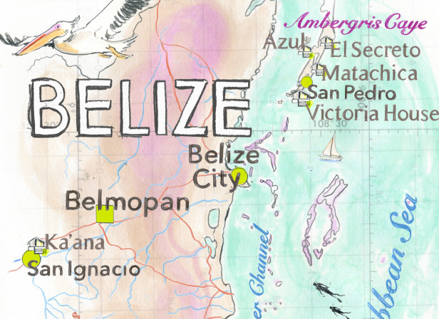 Belize Map Conde Nast Traveller