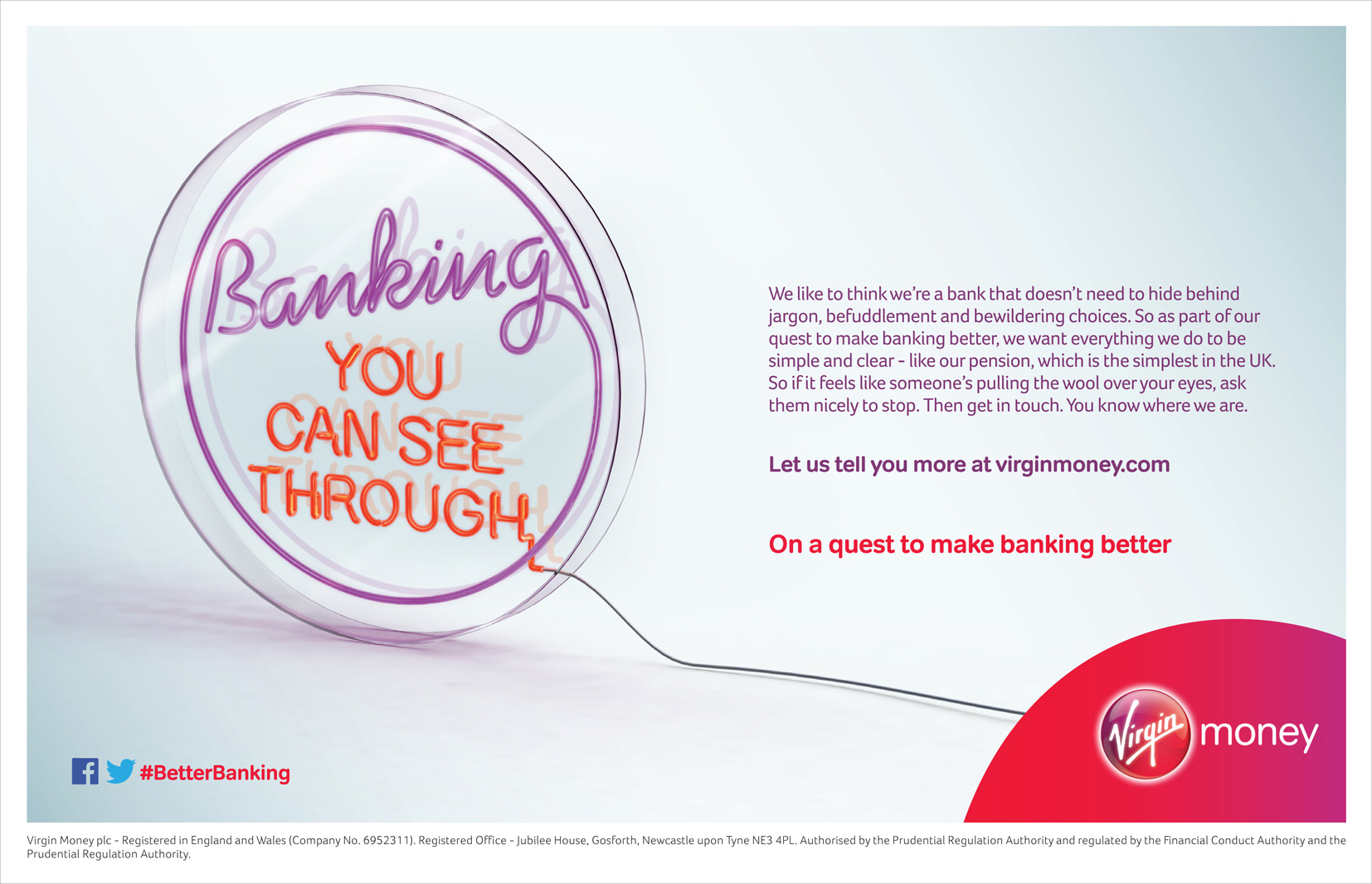 Banking You Can See Through / Virgin Money