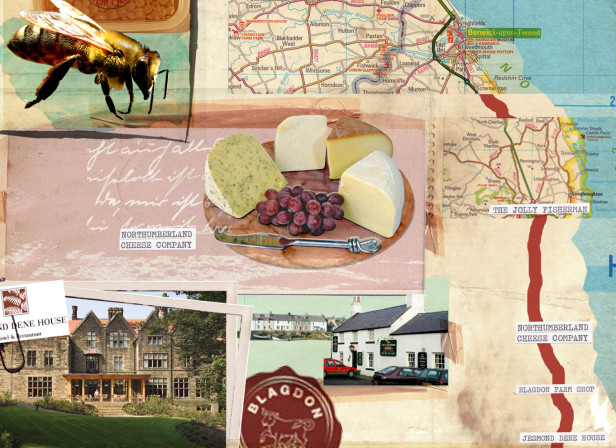 Eat the A1 Map Newcastle Edinburgh Delicious Magazine