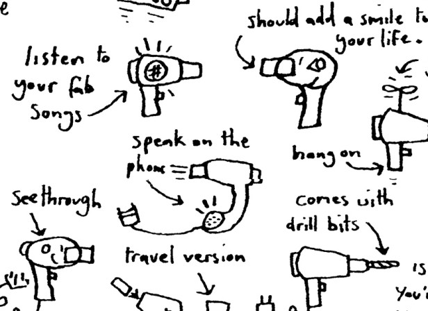 Brainstorm Hand Drawn Hairdryers