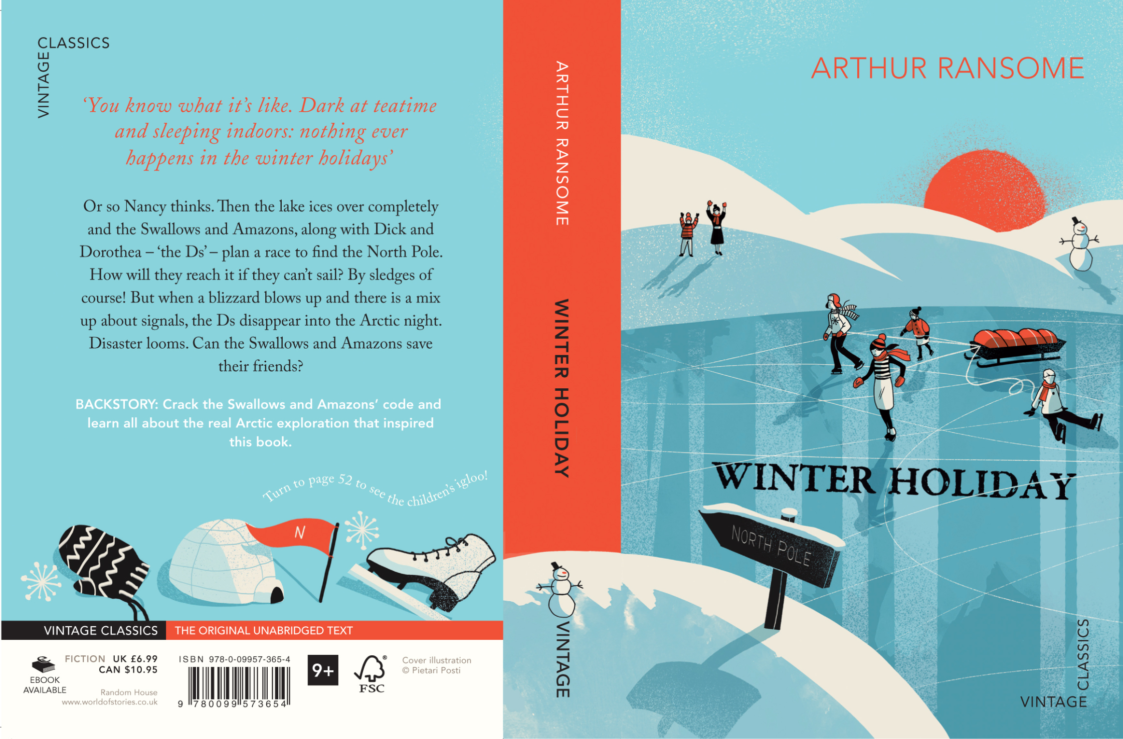 Arthur Ransome - Winter Holiday Cover
