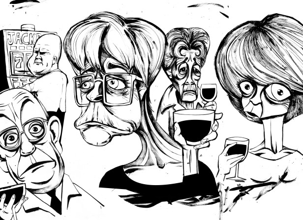 Soap Characters Caricatures