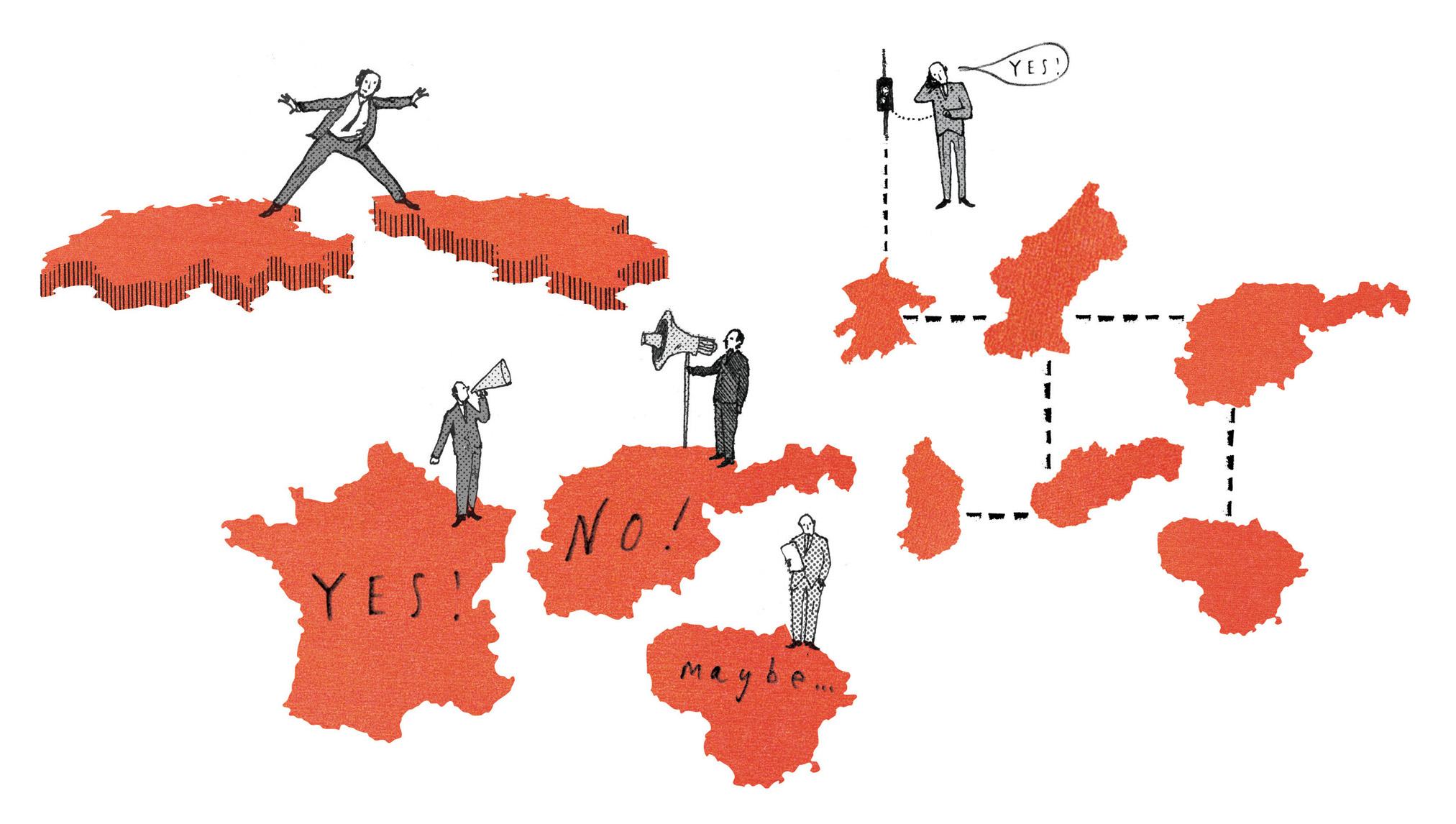 OSCE Magazine Spot Illustrations