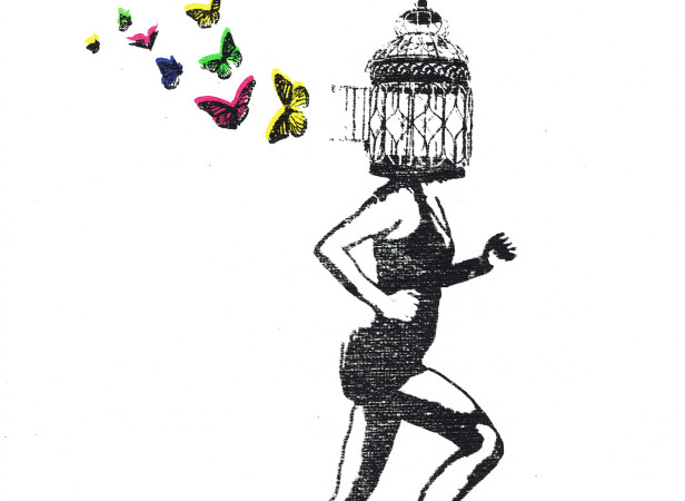 freedom_birdcage_butterflies_running_mentalhealth_screenprint_katie_edwards_illustration_art.jpg