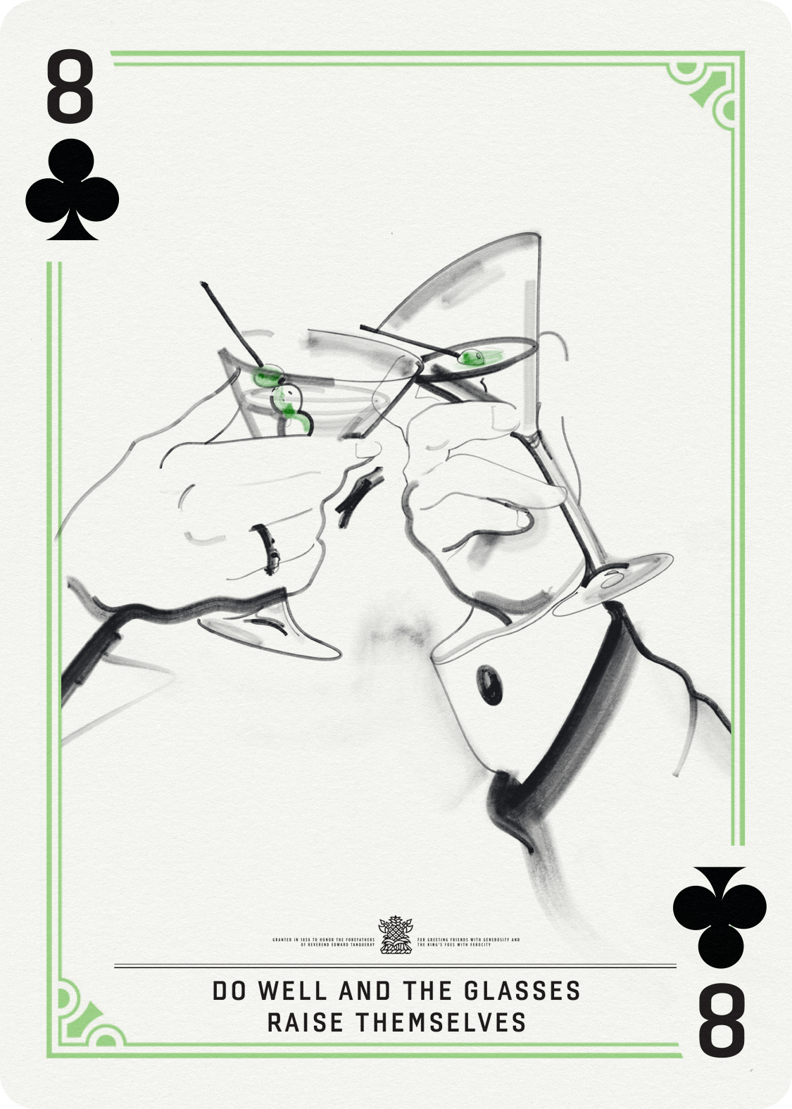 8 of Clubs / Raised Glasses