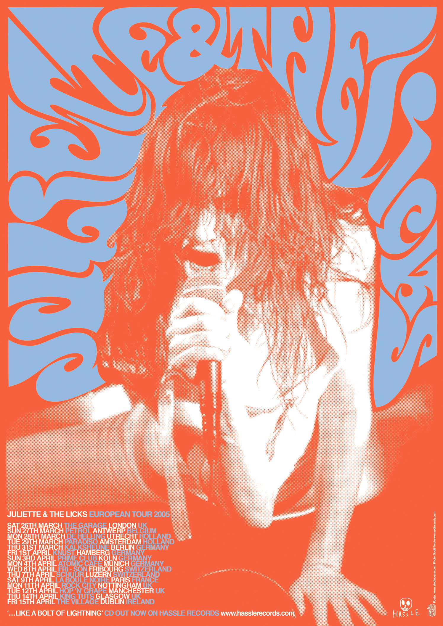 Juliette Lewis And The Licks European Tour Poster