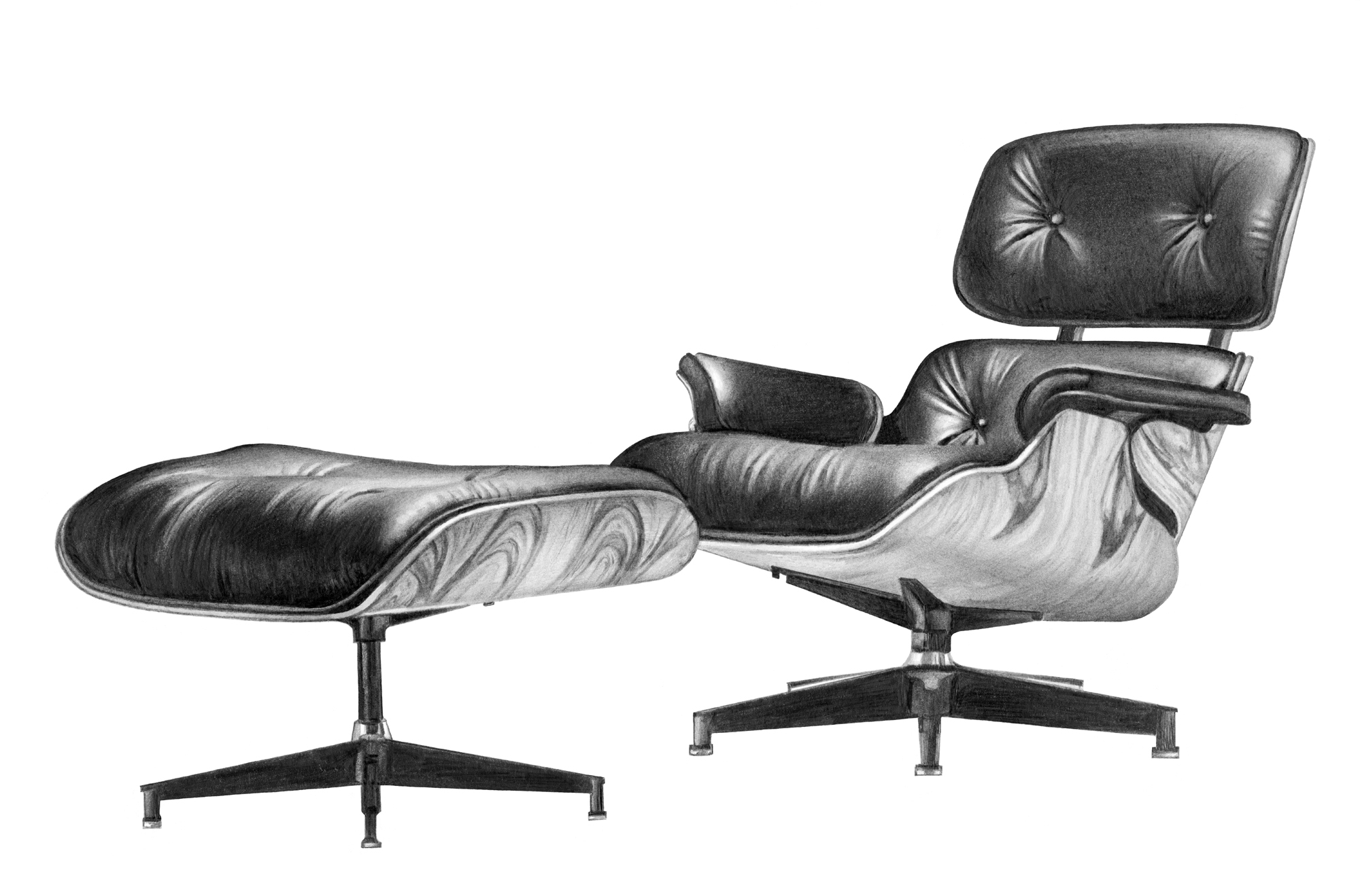 Eames Chair And Stool