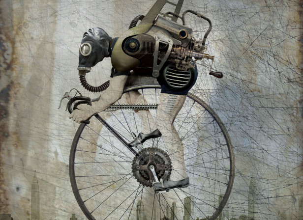 Steampunk Bicycle Poster