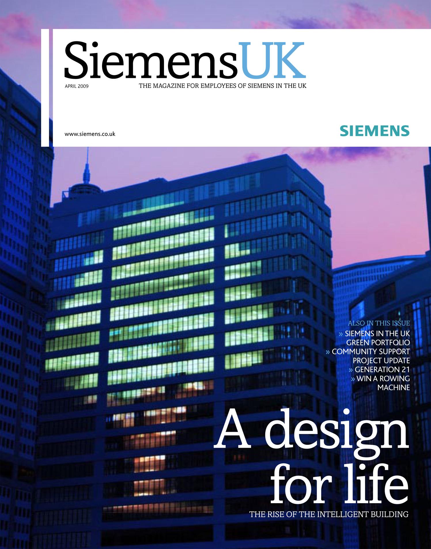 A Design For Life Green Energy Siemens UK Magazine Cover