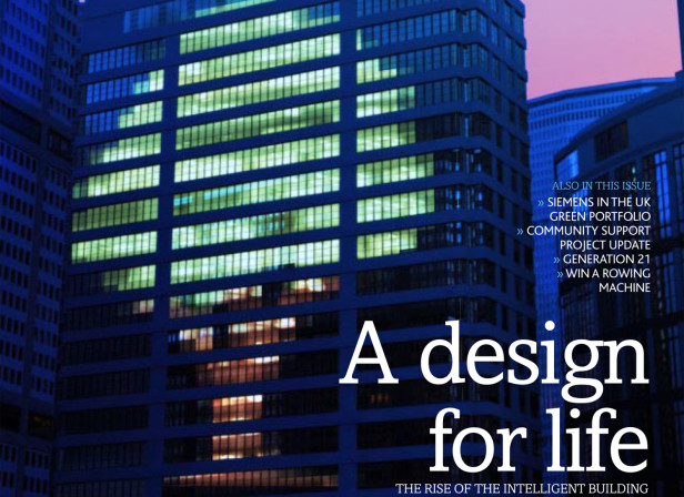 A Design For Life Green Energy Siemens UK Magazine Cover
