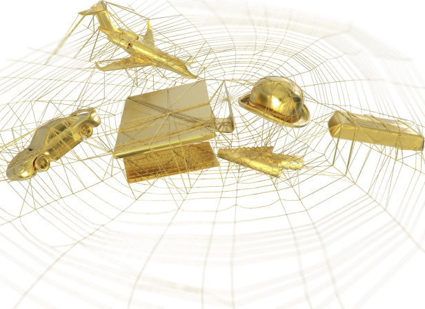 Money Web Gold Icons Trapped In The Web Men's Fitness