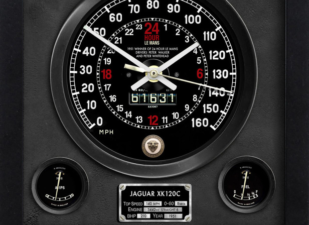 Jaguar XK120 Le Mans Wall Clock