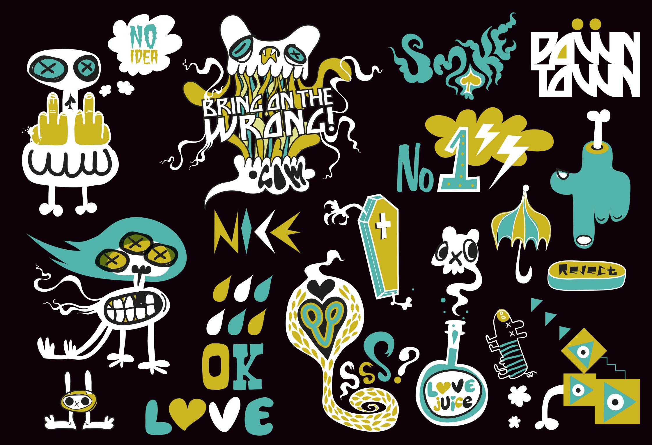 Neon Noize Sticker Designs Licensing