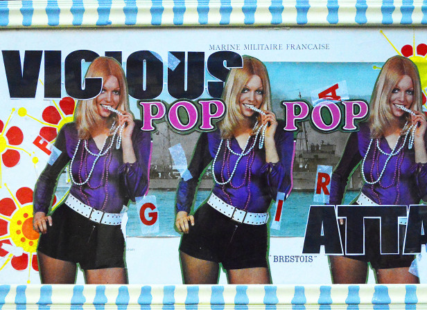 Vicious Cheesecake Pop Attack Collage