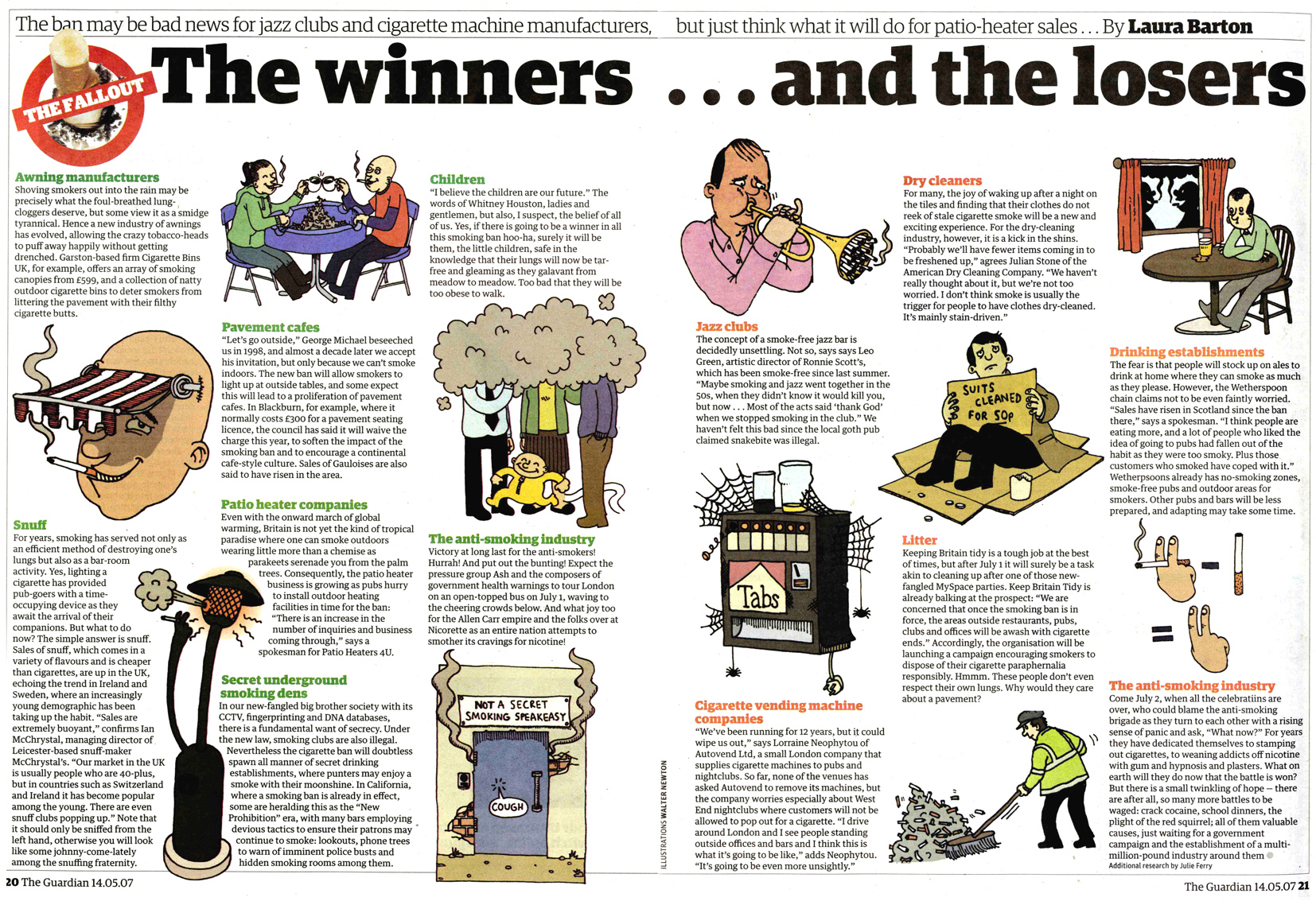 Winners And Losers Of The Smoking Ban DPS / The Guardian