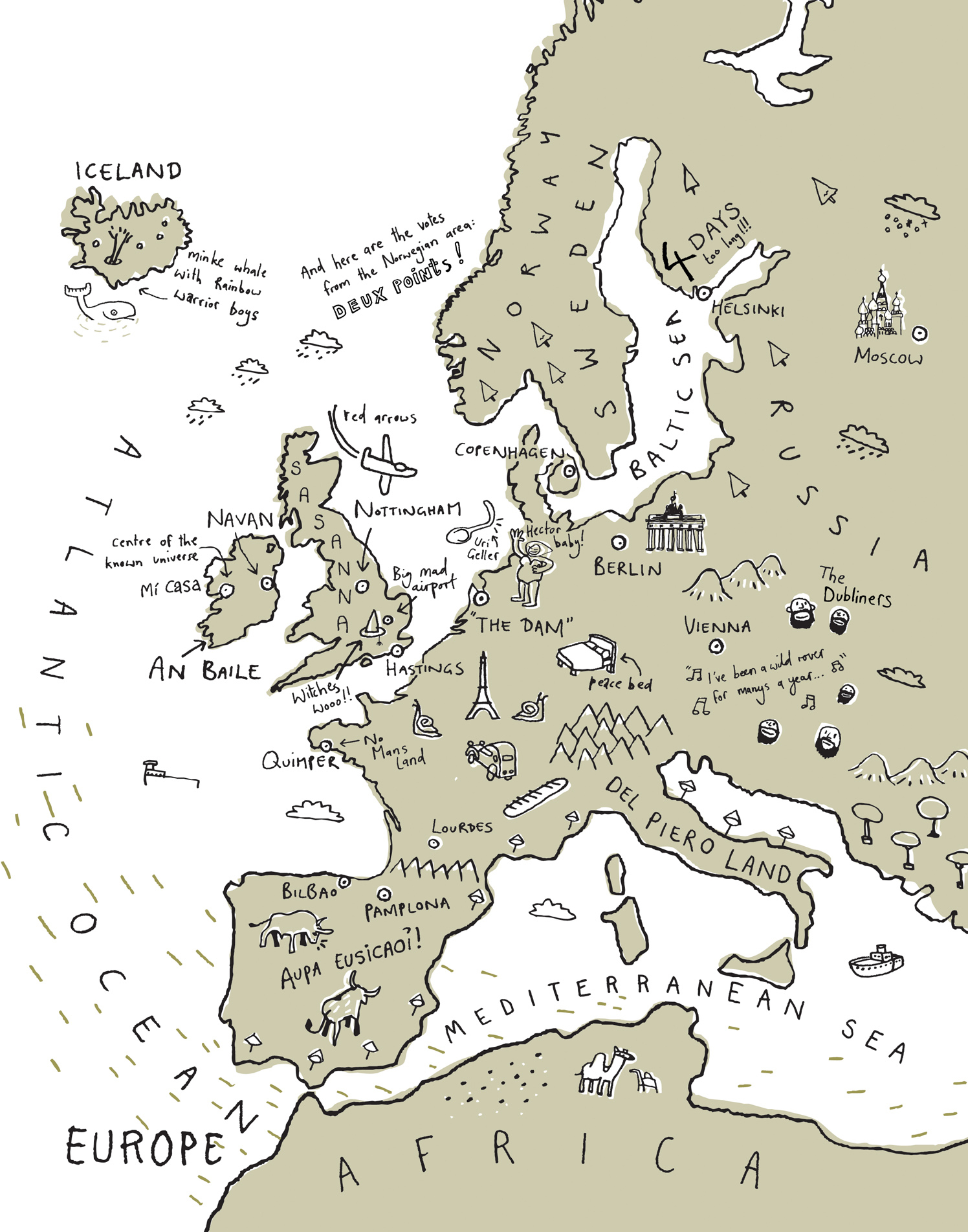 Visiting Europe Map