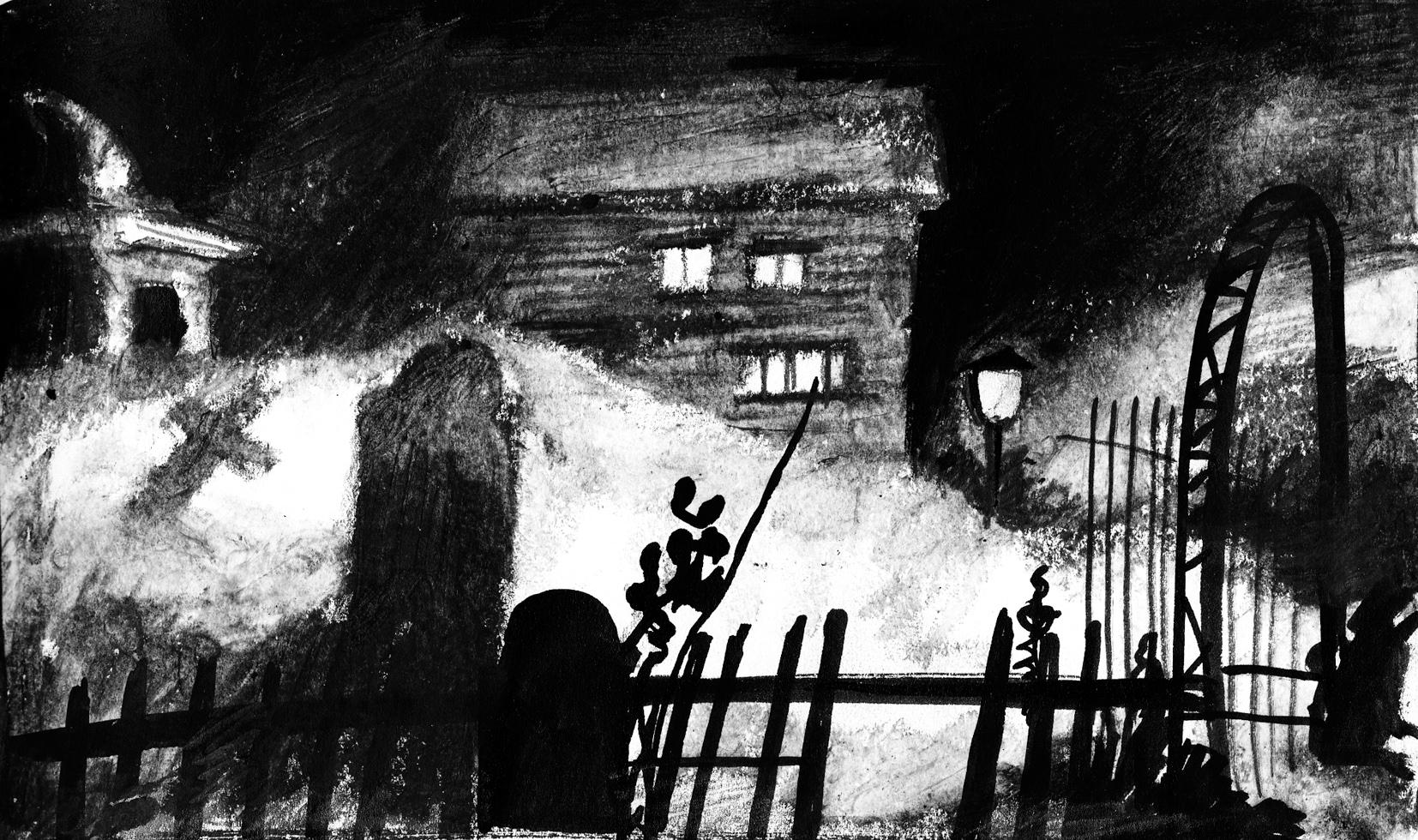 Horror Hotel Noir Car Cemetery 3