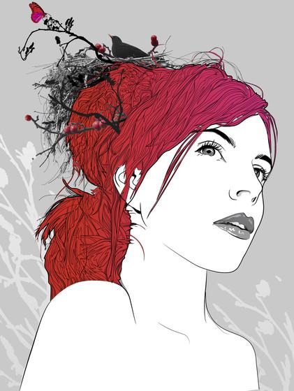 Fashion Hair Collage Portrait