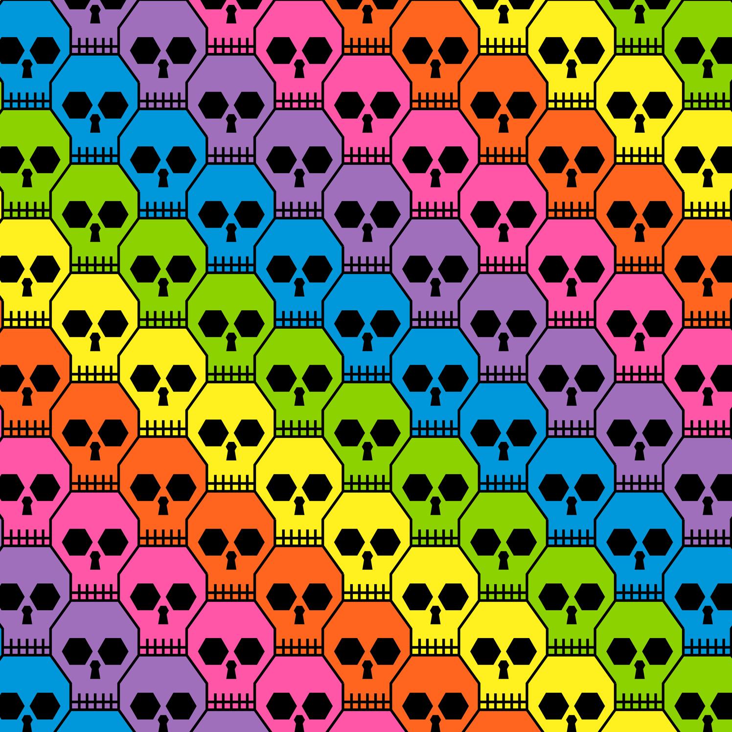 Geometric Skull Rainbow