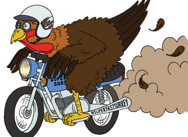 Superfast Surrey Superfast Motorbike Cockerel / BT