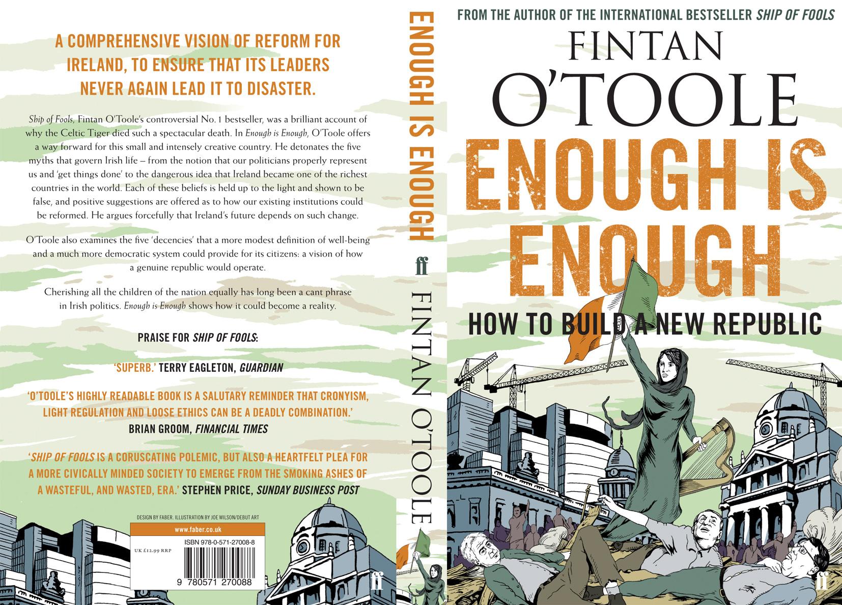Fintan O'Toole Book Cover - Enough Is Enough