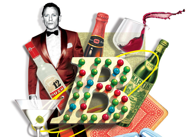 A-Z of James Bond, B is for Booze, LIVE magazine / The Mail