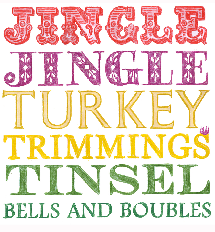 Jingle Jingle Christmas Type Greeting Card